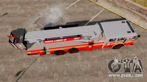 MTL Firetruck Tower Ladder [ELS-EPM] for GTA 4 right view