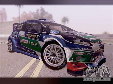 Ford Fiesta RS WRC 2013 for GTA San Andreas inner view