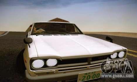 Nissan Skyline 2000GTR 1967 Hellaflush for GTA San Andreas engine