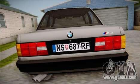 BMW M3 E30 for GTA San Andreas interior