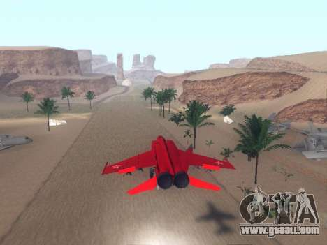 MiG 25 for GTA San Andreas right view