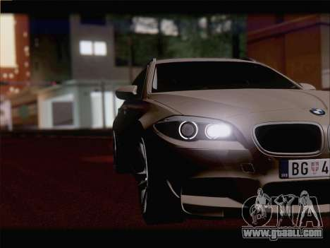 BMW M5 F11 Touring for GTA San Andreas inner view