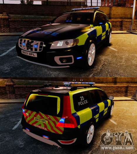 Volvo XC70 Police [ELS] for GTA 4 inner view