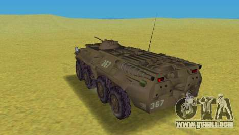 BTR-80 for GTA Vice City back left view