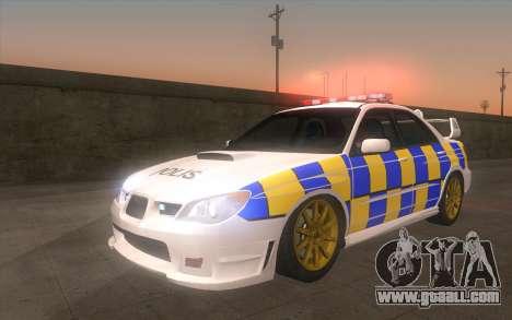 Subaru Impreza 2006 WRX STi Police Malaysian for GTA San Andreas