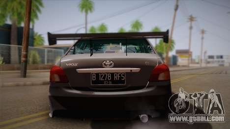 Toyota Vios Slalom Edition for GTA San Andreas right view