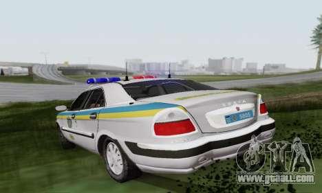 GAS-3111 Miliciâ Ukraine for GTA San Andreas right view