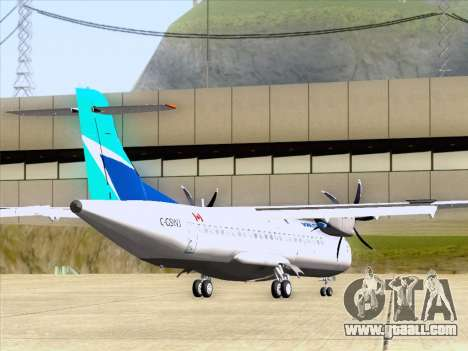 ATR 72-500 WestJet Airlines for GTA San Andreas back left view