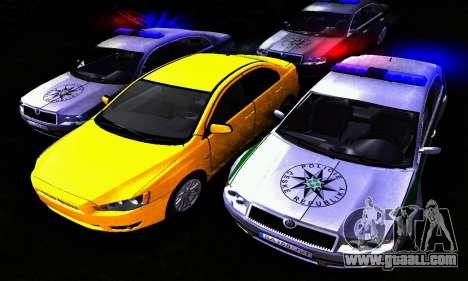 Skoda Superb POLICIE for GTA San Andreas