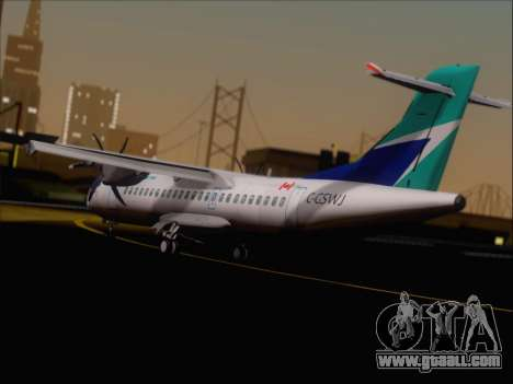 ATR 72-500 WestJet Airlines for GTA San Andreas right view