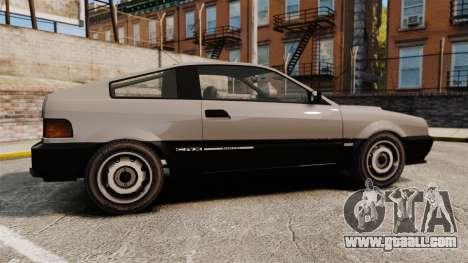 Blista CRX for GTA 4 left view
