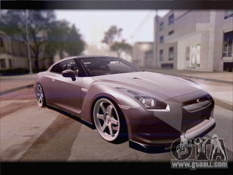 Nissan GT-R Spec V Stance for GTA San Andreas left view