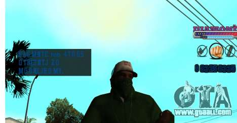 With Diamond-HUD RP for GTA San Andreas third screenshot