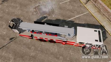 MTL Firetruck Tower Ladder FDLC [ELS-EPM] for GTA 4 right view