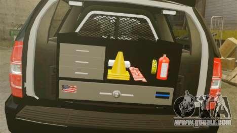 Chevrolet Tahoe 2008 Federal Signal Valor [ELS] for GTA 4 inner view