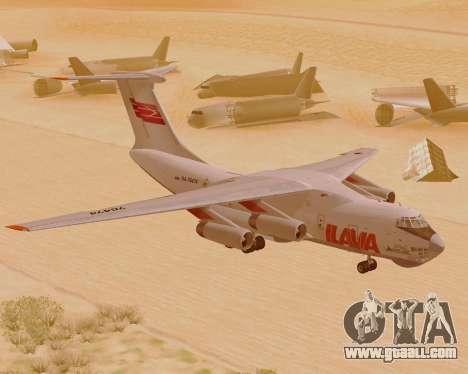 Il-76td IlAvia for GTA San Andreas left view