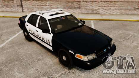Ford Crown Victoria 2008 LCPD Patrol [ELS] for GTA 4 inner view
