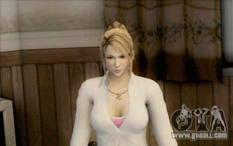 Sarah from Dead or Alive 5 for GTA San Andreas second screenshot