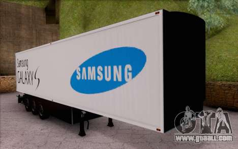 Samsung Galaxy S Trailer for GTA San Andreas left view