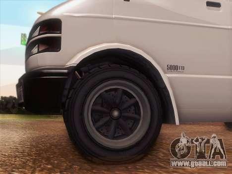 Youga out GTA 5 for GTA San Andreas right view