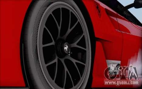Ferrari 599XX Evolution for GTA San Andreas back left view