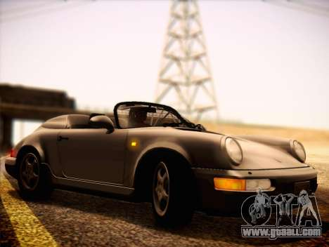 Porsche 911 Speedster Carrera 2 1992 for GTA San Andreas back left view