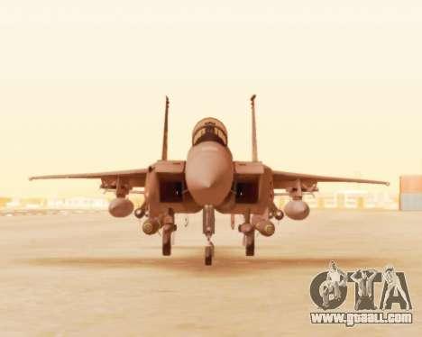 F-15E Strike Eagle for GTA San Andreas left view