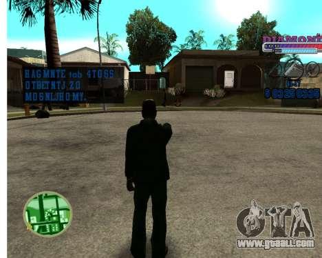 With Diamond-HUD RP for GTA San Andreas second screenshot