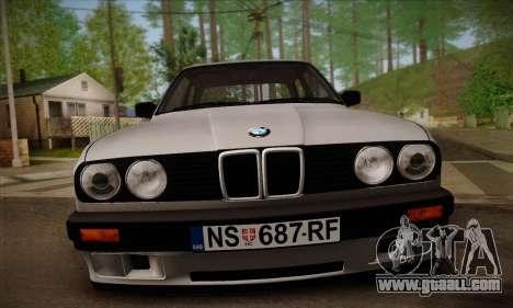 BMW M3 E30 for GTA San Andreas bottom view