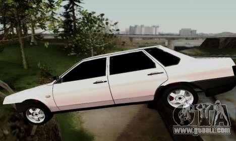 VAZ 21099 Hobo for GTA San Andreas inner view