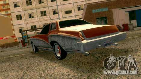 Chevy Monte Carlo Lowrider for GTA Vice City back left view