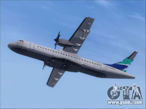 ATR 72-500 WestJet Airlines for GTA San Andreas back view