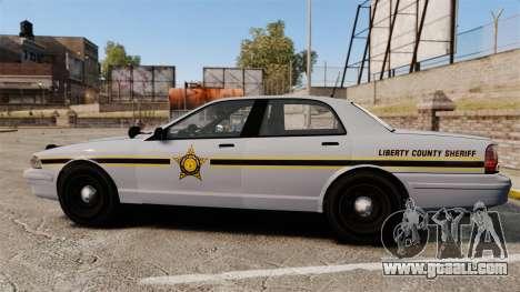 GTA V Vapid Police Cruiser Scheriff [ELS] for GTA 4 left view