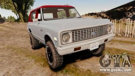 Chevrolet K5 Blazer for GTA 4