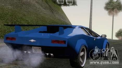 Infernus 80s for GTA San Andreas left view
