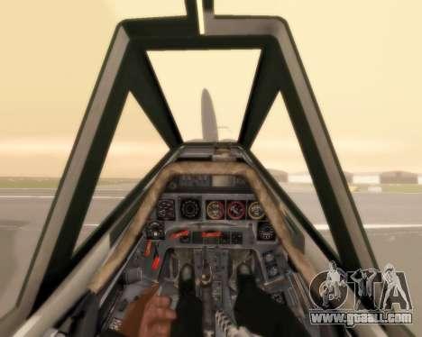 Focke-Wulf FW-190 F-8 for GTA San Andreas upper view