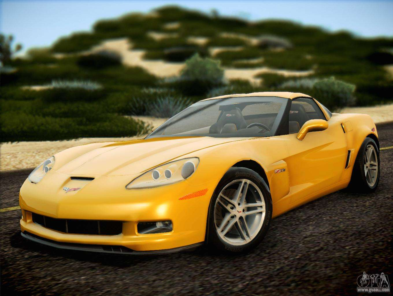 chevrolet corvette z06 2006 v2 for gta san andreas. Black Bedroom Furniture Sets. Home Design Ideas