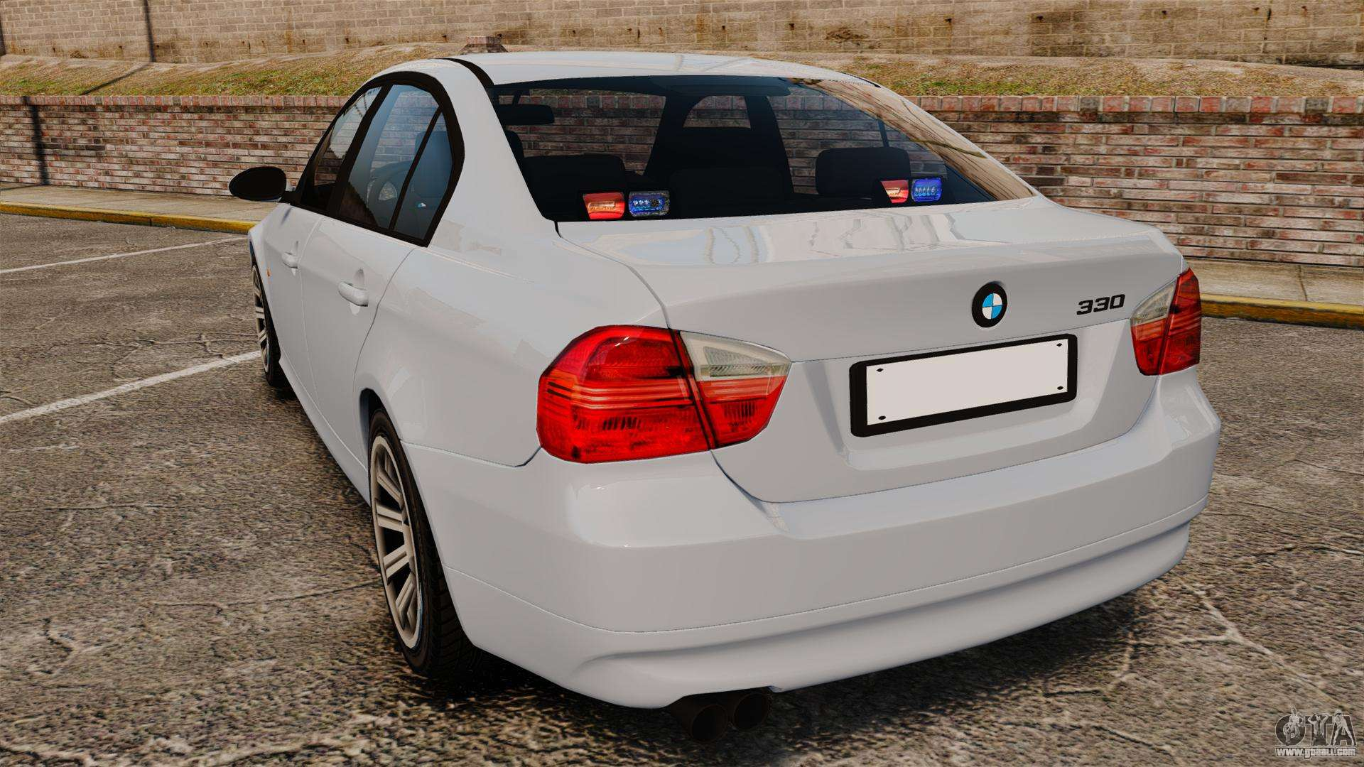 BMW I Unmarked Police ELS For GTA - 2014 bmw 330i