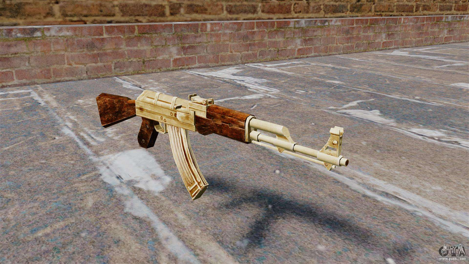 AK 47 Gold Plated For GTA 4
