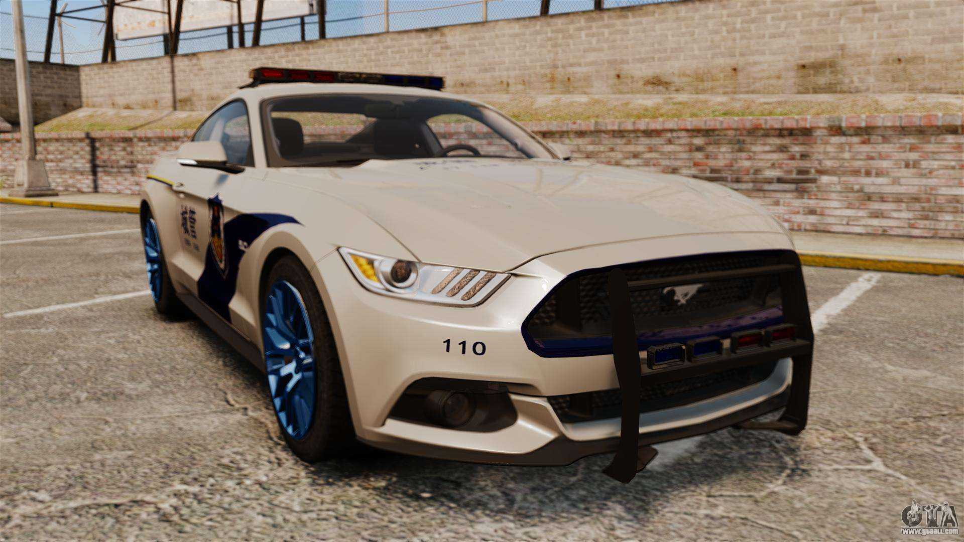 ford mustang gt 2015 cheng guan police for gta 4. Black Bedroom Furniture Sets. Home Design Ideas