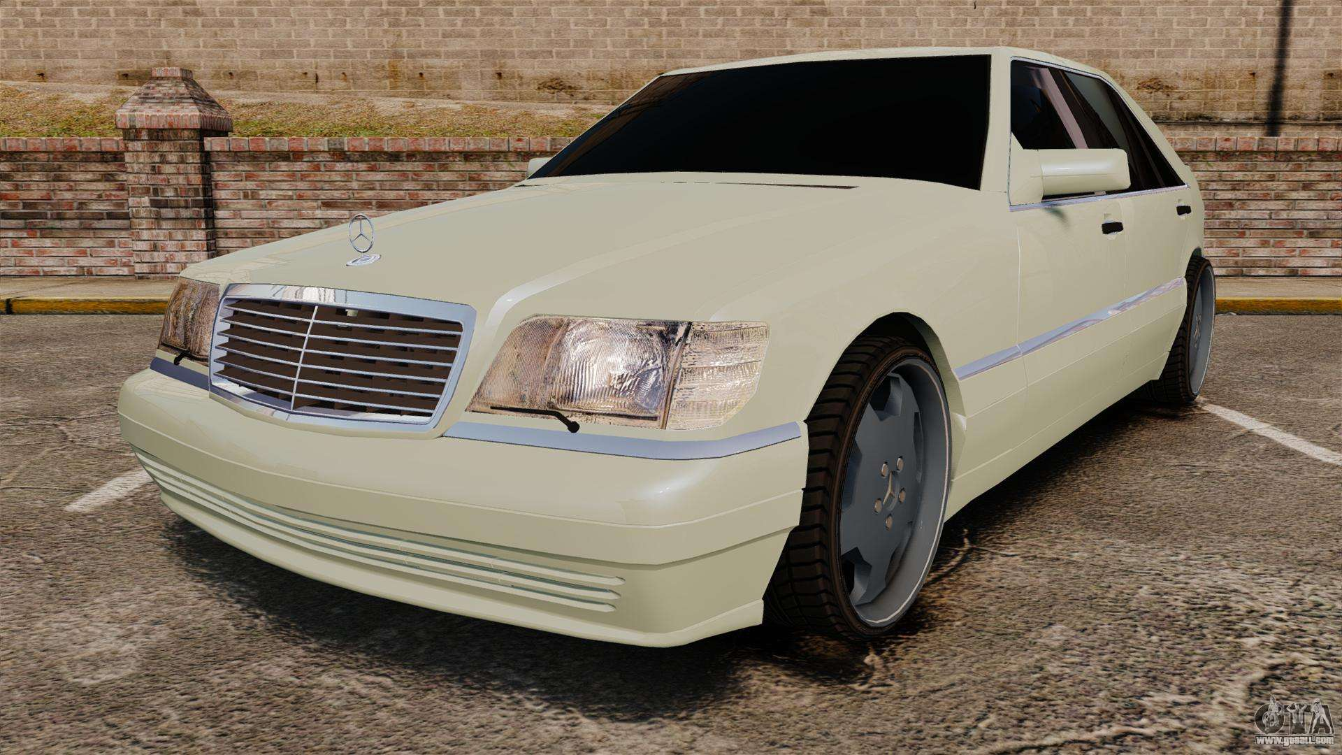 Mercedes benz s600 w140 1998 for gta 4 for S600 mercedes benz