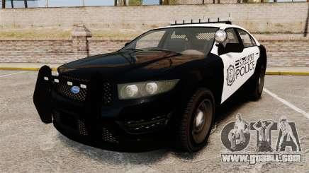 GTA V Vapid Steelport Police Interceptor [ELS] for GTA 4