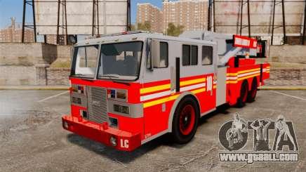 MTL Firetruck Tower Ladder [ELS-EPM] for GTA 4