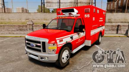 Ford E-350 LAFD Ambulance [ELS] for GTA 4