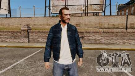 Blue camouflage windbreaker for GTA 4