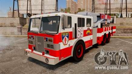 MTL Firetruck Tower Ladder FDLC [ELS-EPM] for GTA 4