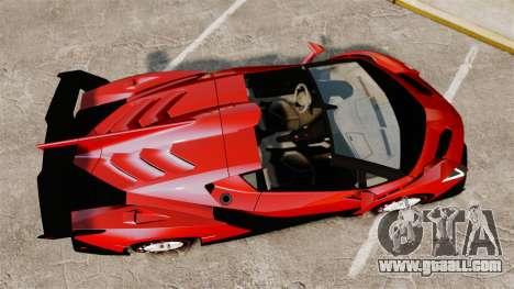 Lamborghini Veneno Roadster LP750-4 2014 for GTA 4 right view