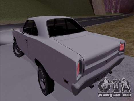Plymouth Road Runner 383 1969 for GTA San Andreas left view