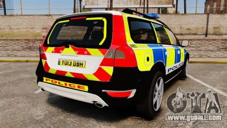 Volvo XC70 2014 Police [ELS] for GTA 4 back left view