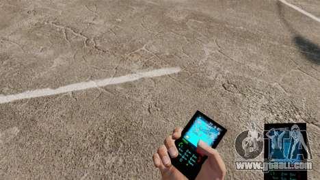 The theme for phone Aqua Blue v2.0 for GTA 4